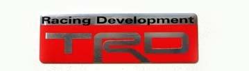"""Toyota TRD 2.5"""" x 0.75"""" Aluminum Emblem"""