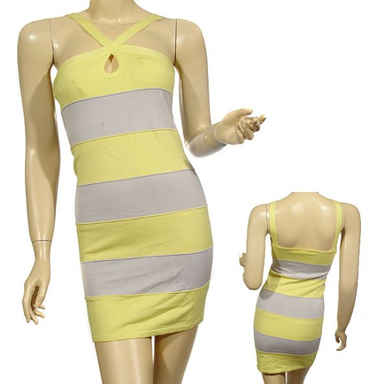 Knit halter style slim fitted dress