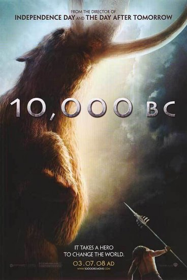 10,000 B.C. Advance Double Sided Orig Movie Poster 27 x40