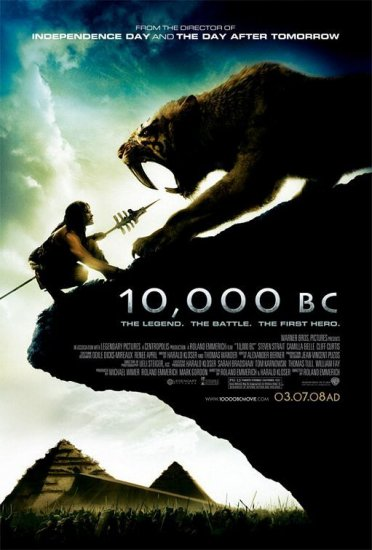 10,000 B.C. Final Double Sided Orig Movie Poster 27 x40
