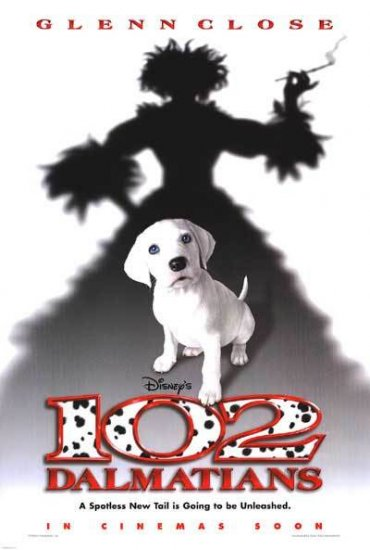 102 Dalmatians Advance Orig Movie Poster Double Side Movie Poster 27 x40
