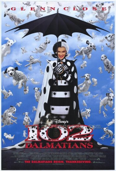 102 Dalmatians Regular Orig Movie Poster Double Side Movie Poster 27 x40