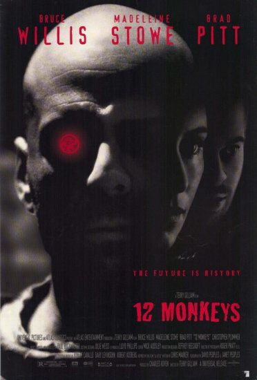12 Monkeys Regular Single Sided Movie Poster 27x40 Original Rare