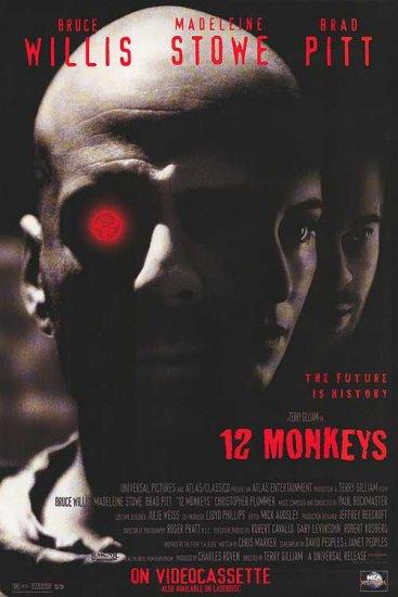12 Monkeys Video Poster Single Sided Movie Poster 27x40 Original Rare