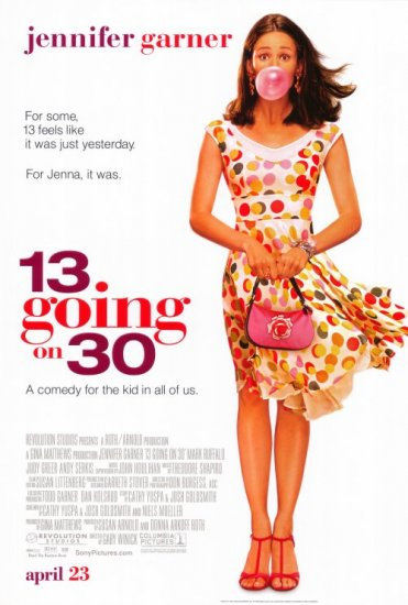13 Going on 30 Double Sided Movie Poster 27x40 Original