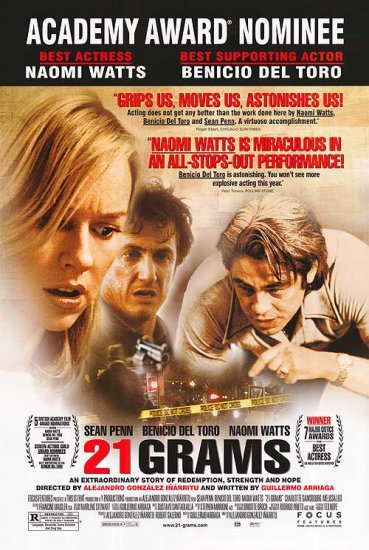 21 Grams Academy Award 27x40 Original Movie Poster Double Sided