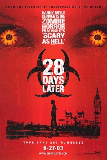 28 Days Later Adv 27x40 Original Movie Poster Single Sided