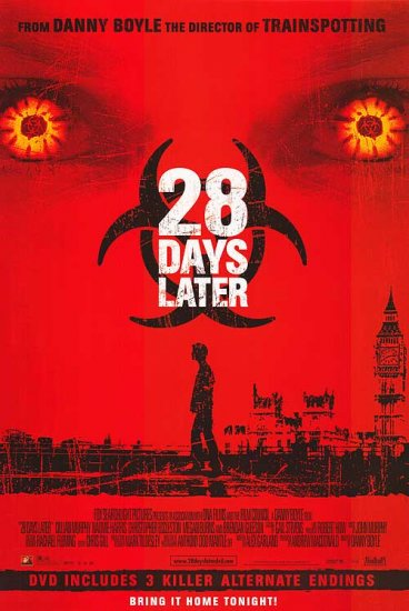 28 Days Later Dvd Poster 27x40 Original Movie Poster Single Sided