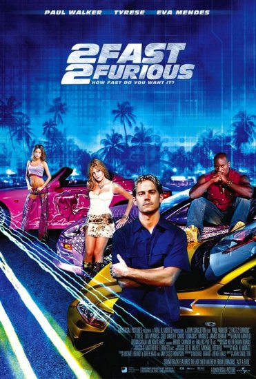 2Fast 2Furious Intl 27x40 Orig Movie Poster Double Sided