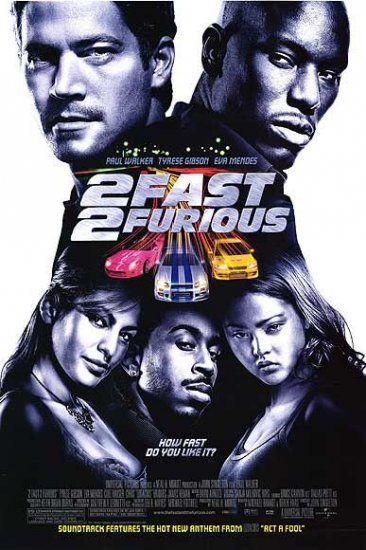 2Fast 2Furious Regular 27x40 Orig Movie Poster Double Sided