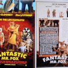 Fantastic Mr Fox  Original Movie Poster  Double Sided 14x20