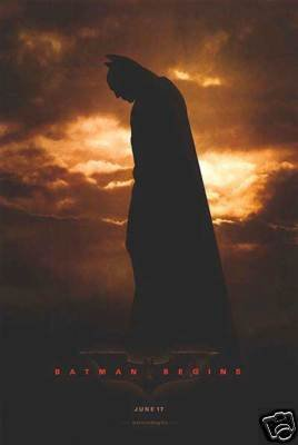 Batman Begins Version A Original Movie Poster Double Sided 27x40