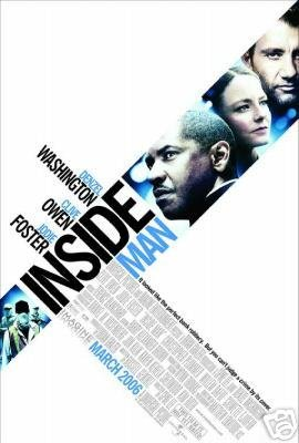 Inside Man Original Movie Poster Double Sided 27x40