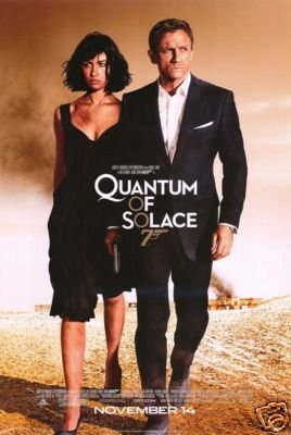 QUANTUM OF SOLACE Movie Poster THE LOGO 007 IS EMBOSSED
