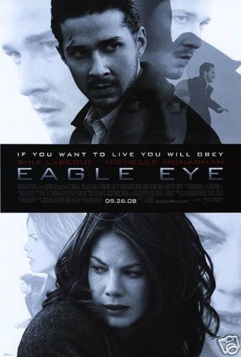 Eagle Eye Original Movie Poster Doube Sided 27x40