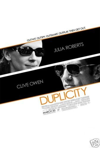 DUPLICITY ORIG Movie Poster DOUBLE SIDED 27 X40