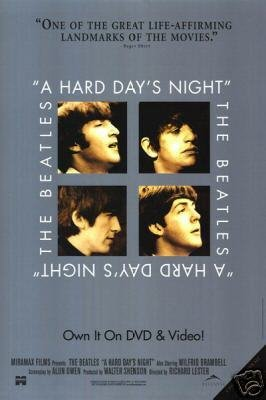 HARD DAYS NIGHT MOVIE Poster ORIG 27 X40