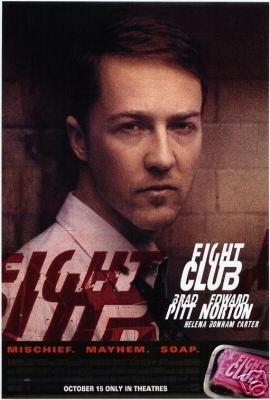 Fight Club ( E. Norton) Original Movie Poster Single Sided 27 X40