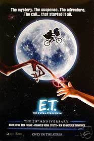 E.T. 20Th Anniversary Original Movie Poster 27X40 Double Sided