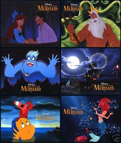 LITTLE MERMAID LOBBY CARDS 6 PCS PER SET