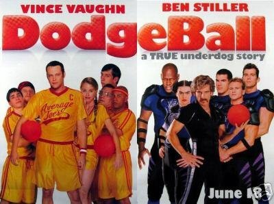 DodgeBall 2 Pcs per set Original Movie Poster Single Sided 27x40