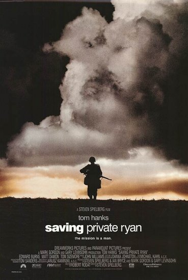 Saving Private Ryan Advance (RECALLED) Double Sided Orig Movie Poster 27X40
