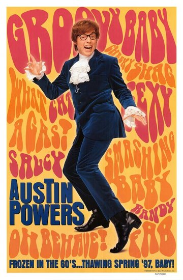 Austin Powers International Man of Mystery Original Single Sided Movie Poster 27x40