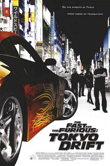 Fast and the Furious :Tokyo Drift Original Movie Poster Orig Double Sided 27x40