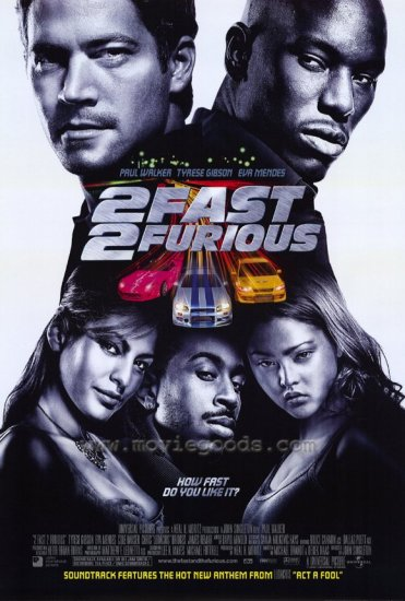 2 Fast 2 Furious Original Movie Poster Double Sided 27x40