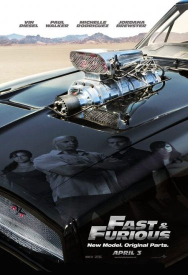 Fast & The Furious New Model Advance Original Movie Poster Double Sided 27x40