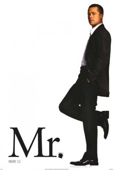 Mr. & Mrs. Smith Advance (Brad Pitt) Movie Poster Double Sided Original 27 X40