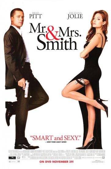 Mr. & Mrs. Smith Dvd Poster Movie Poster Single Sided Original 27 X40
