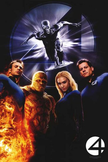 Fantastic Four : Rise of the Silver Surfer Movie Poster Original Single Sided 27x40