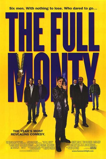 Full Monty (Blue Text) Original Movie Poster Single Sided 27x40