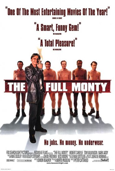 Full Monty International Original Movie Poster Double Sided 27x40