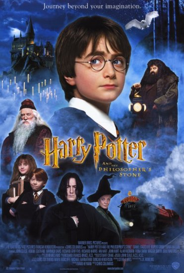 Harry Potter and the Sorcerer's Stone Original Movie Poster Double Sided 27x40