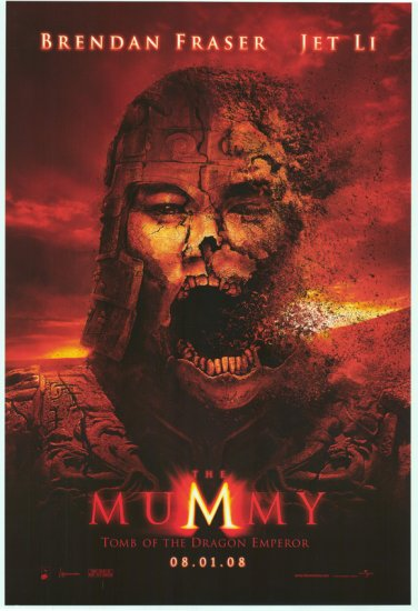 Mummy 3: Tomb of the Dragon Emperor Advance Original Movie Poster Double Sided 27x40