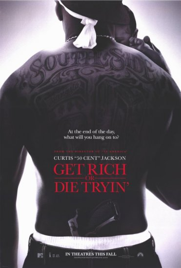 Get Rich or Die Tryin' Ver A Original Movie Poster Double Sided 27x40