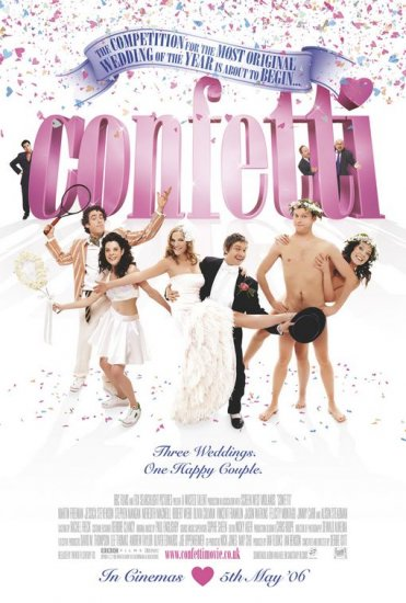 Confetti Intl Original Movie Poster Double Sided 27 X40