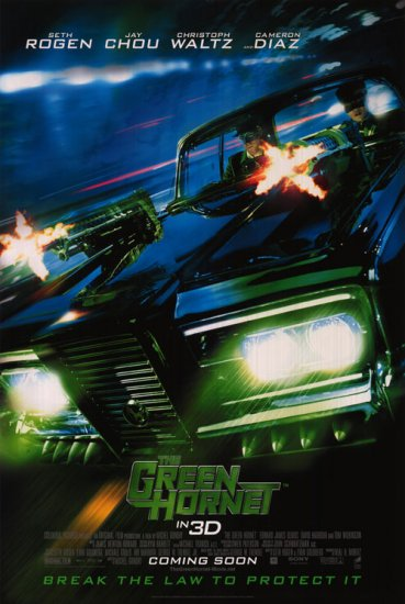 Green Hornet Version C Original Movie Poster  Double Sided 27 X40