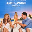 Just Go With It Original Theatrical Movie Poster  Double Sided 27 X40