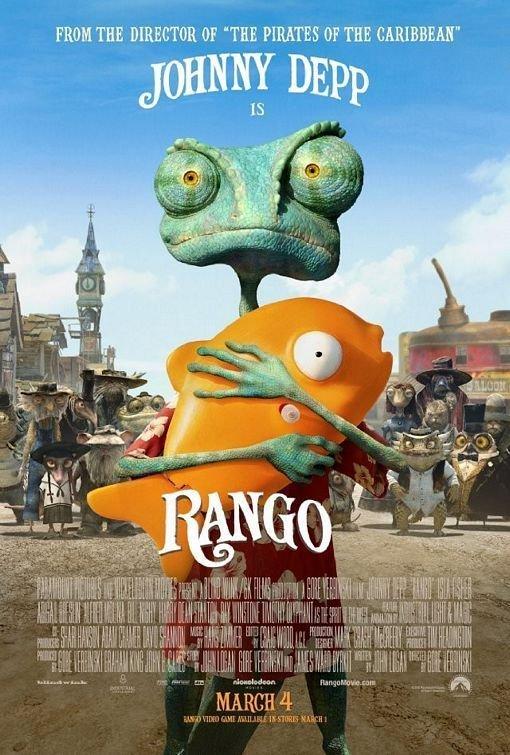 Rango Regular Original Theatrical Movie Poster  Double Sided 27 X40