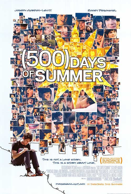 500 Days of Summer Original Movie Poster 27x40 Double Sided