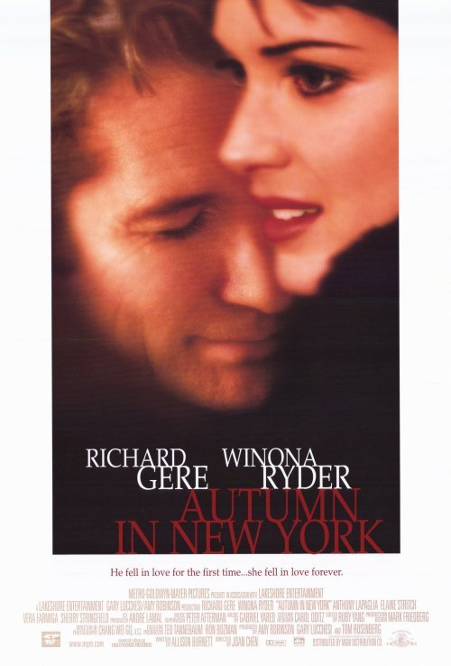 Autumn In New York Original Movie Poster  Single Sided 27 X40