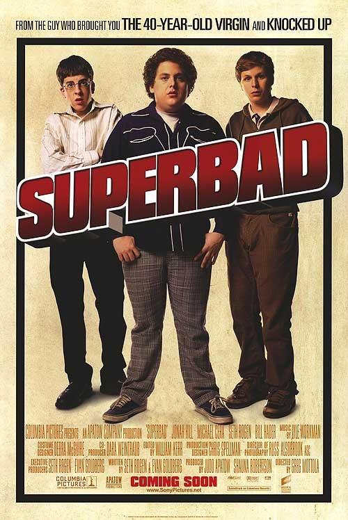 Superbad Intl Original Movie Poster Double Sided 27x40