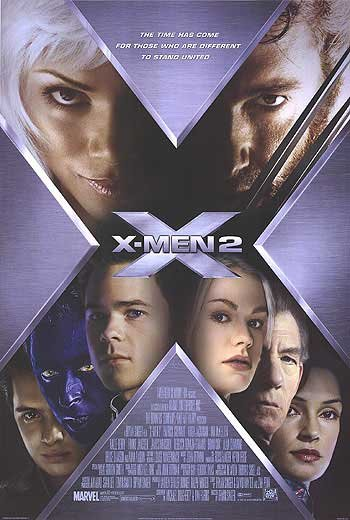 X-Men 2 Version C Original Movie Poster Double Sided 27x40