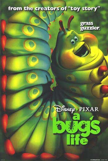 A Bug's Life Version D Caterpillar Original Movie Poster  Double Sided 27 X40