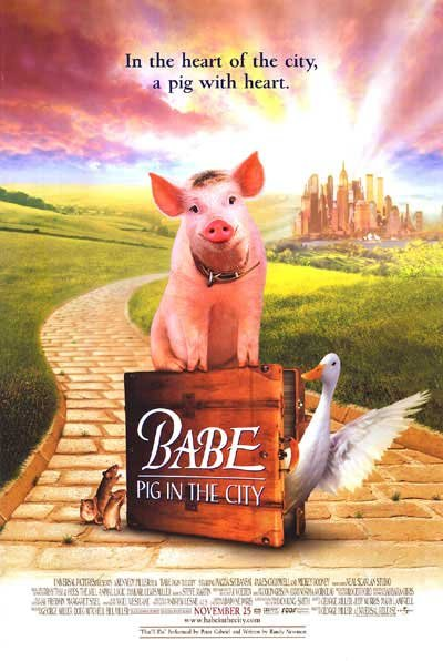 Babe Pig In The City Regular Original Movie Poster Double Sided 27x40