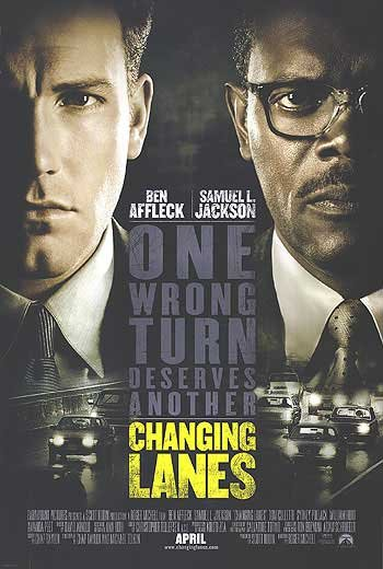 Changing Lanes Double Sided Original Movie Poster 27x40