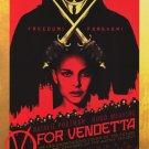 V For Vendetta Advance Version B Original Movie Poster Single Sided 27 X40